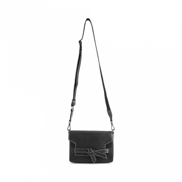 Markberg Vanya Knot Crossbody Bag Black Off White